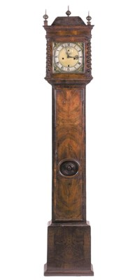 An English walnut longcase clo