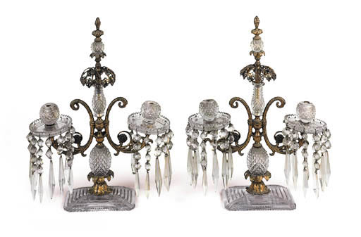 A pair of Regency gilt bronze
