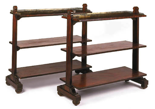 A pair of George IV mahogany t