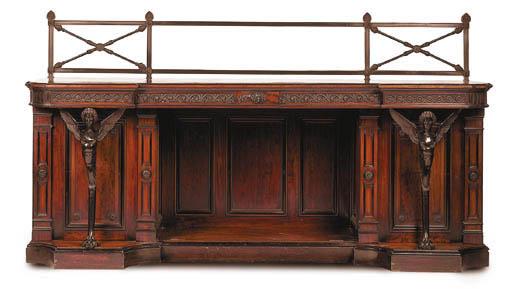 A Victorian mahogany and bronz