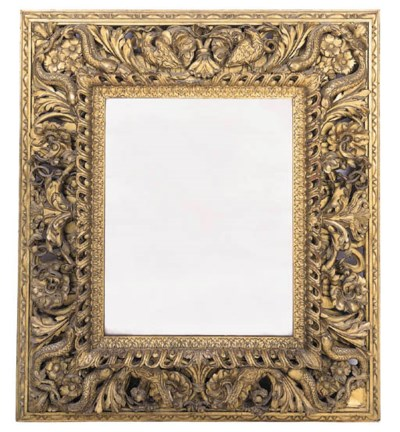 An Italian carved giltwood wal