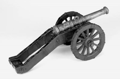 A Bronze Model Field Gun