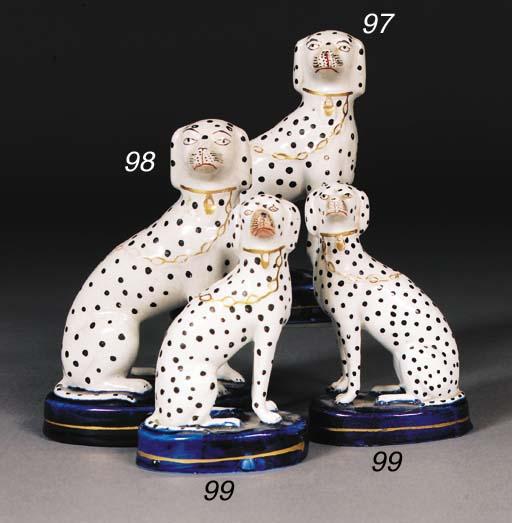 Two Staffordshire models of da