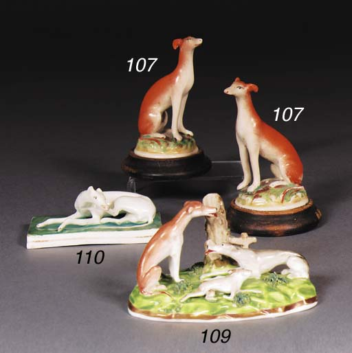 An English porcelain hound and