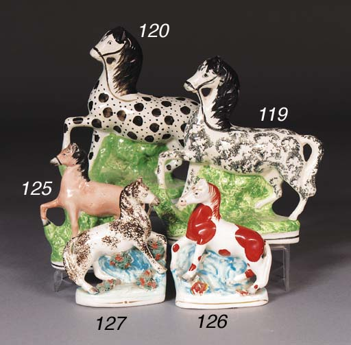 A Staffordshire model of a circus pony