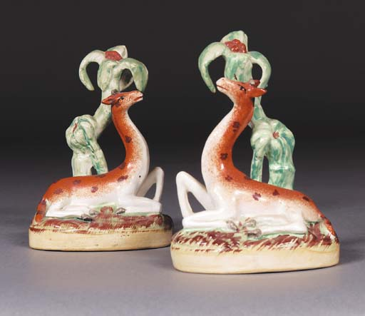 A pair of late Staffordshire m