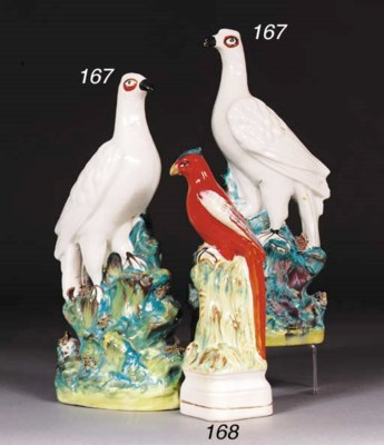 A pair of models of 'roc' bird