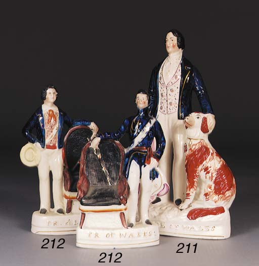 A Staffordshire figure of the Prince of Wales