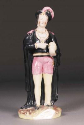 A Staffordshire figure of John