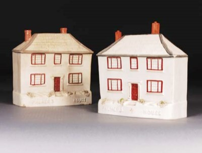 Two Staffordshire models of Pa