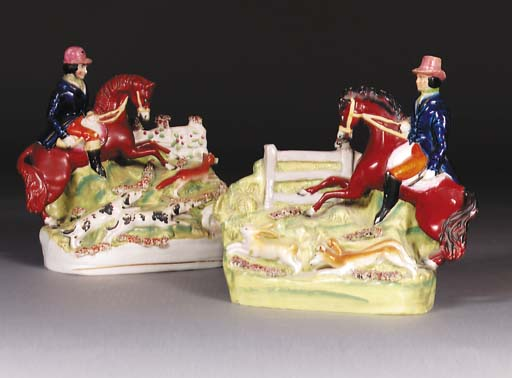 Two Staffordshire groups of an