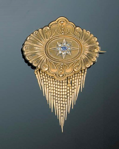 A Victorian gold, sapphire and