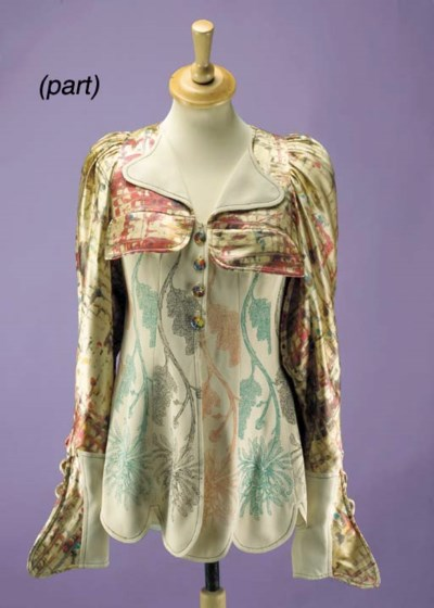 A long snakeskin jacket, with