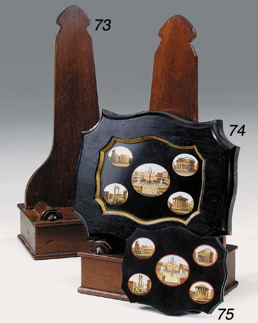 A pair of Victorian mahogany plate stands, second quarter 19th century