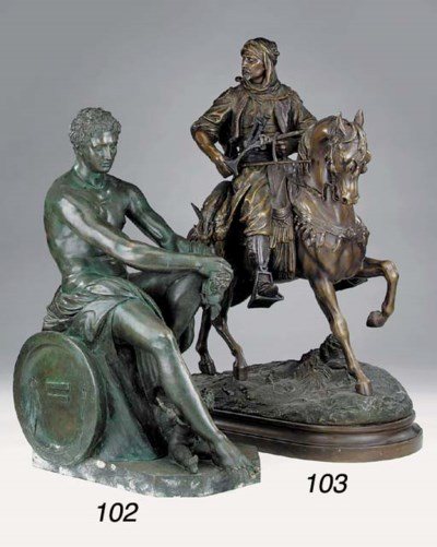 A French spelter group of an A