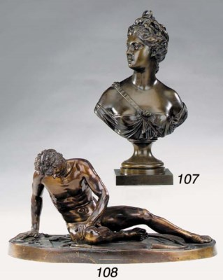 A French bronze model of the C