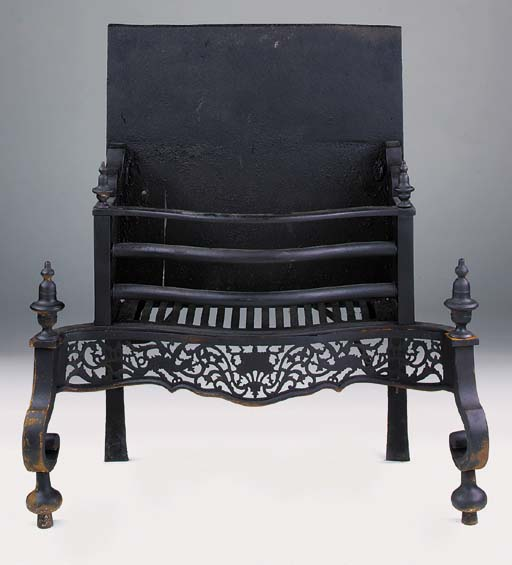 An English cast iron firegrate, 19th century