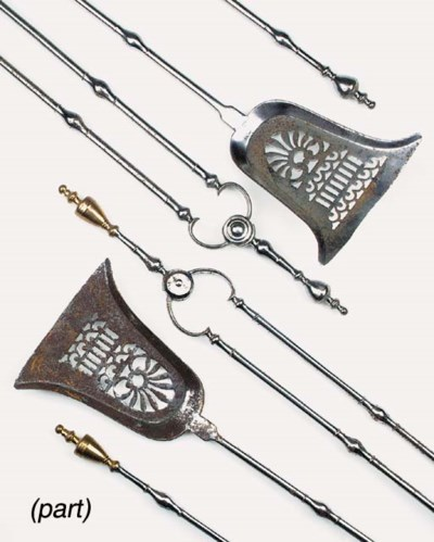 Two sets of George III steel f