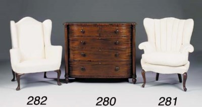 A WING ARMCHAIR, 20TH CENTURY