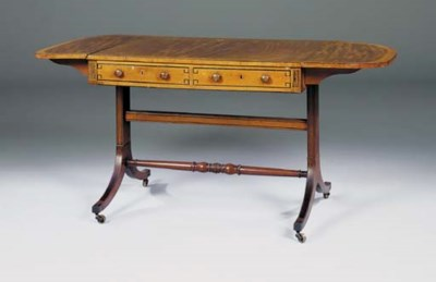 A REGENCY MAHOGANY AND SPECIME