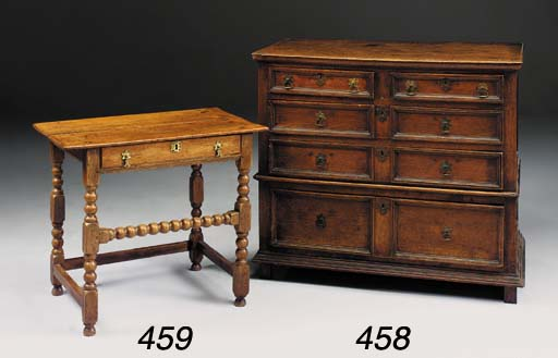 AN OAK SIDE TABLE, EARLY 18TH CENTURY AND LATER
