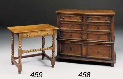 AN OAK SIDE TABLE, EARLY 18TH