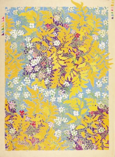 Ten floral designs, some large