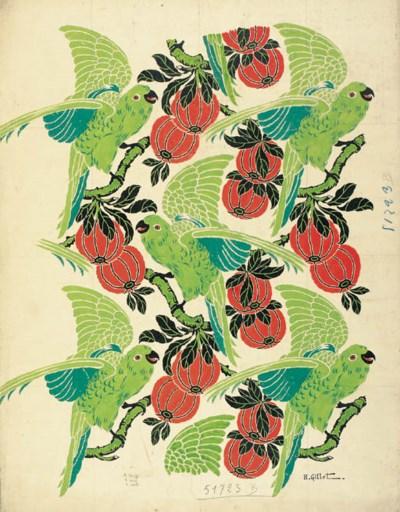 Henri Gillet, green cockatoos