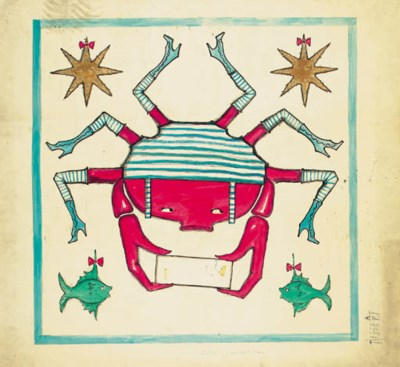 The Crab goes swimming, design