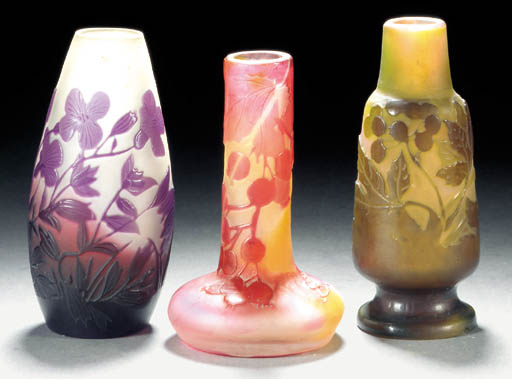 A Gallé cameo glass vase