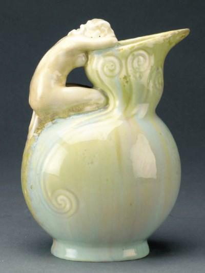 A Zsolnay pottery ewer