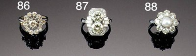 A diamond openwork cluster rin