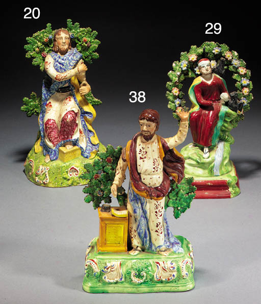An pearlware figure of Christ