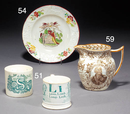 A pearlware commemorative nurs