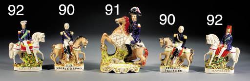 A equestrian figure of General