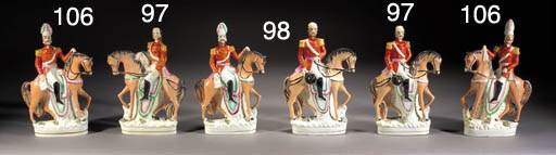 Two equestrian figures of Prus