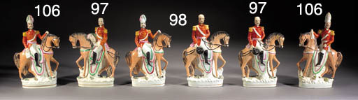 Two equestrian figures of Prussian Generals