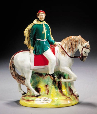 A equestrian figure of Victor