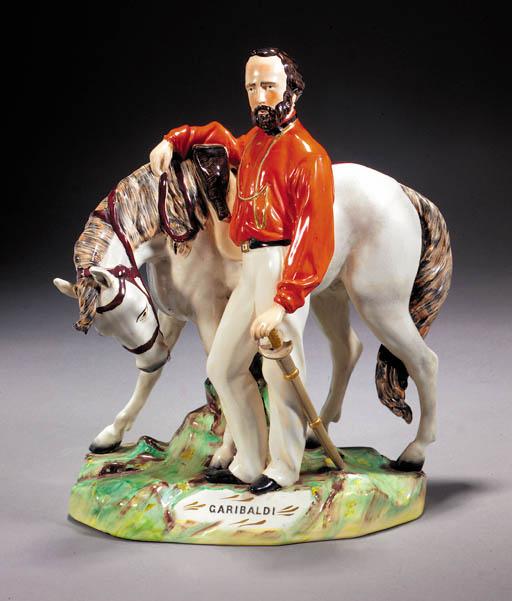 An equestrian figure of Garibaldi