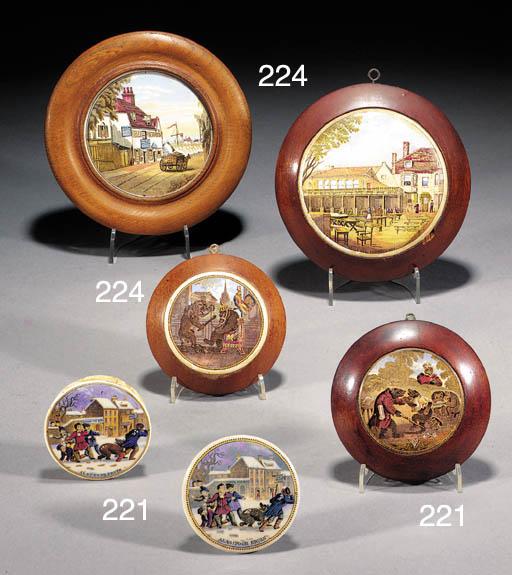 Seven Pratt type pot lids