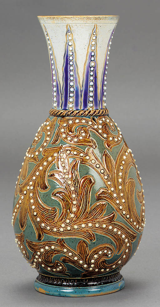 A Lambeth stoneware vase