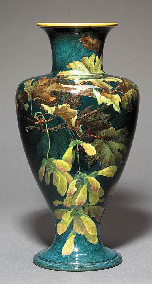 A Lambeth footed vase