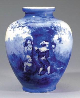 A Blue Children's Ware vase