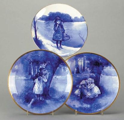a Blue Children's Ware plate