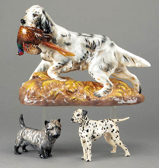 'English Setter with Pheasant'