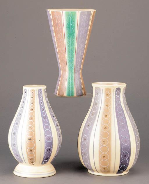 A Contemporary bulbous vase