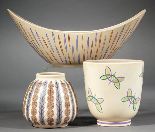 A Contemporary footed vase