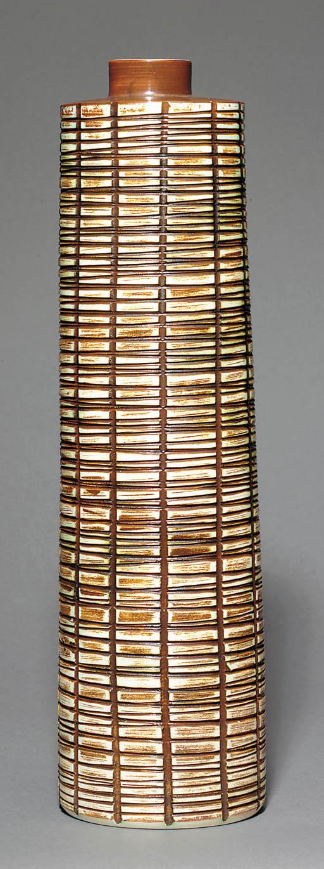 A Studio tall cylindrical vase