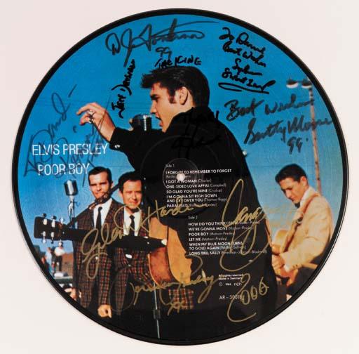 Scotty Moore, D.J. Fontana And Priscilla Presley