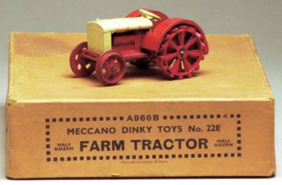 A pre-war Dinky Toys and cream
